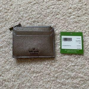 Kate Spade Cameron Street metallic cardholder
